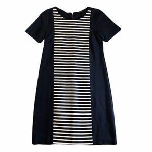 J. Crew Shift Dress. Navy & White stripes. SZ. 0.